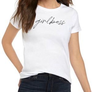 NWT The Limited Girl Boss White Graphic Tee